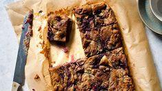 White chocolate, blackberry and rosemary mud slice | Chocolate recipe | SBS Food