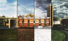 Bigelow Chapel, Seasons Render by Kyle Beneventi