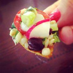 Black Bean and Barley Salad with Baked Tortilla Chips - The Lemon Bowl