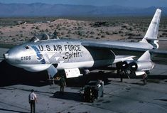 Boeing B-47E-25-DT Stratojet 52-166 is prepared to Depart NAWC China Lake. (U.S. Navy)