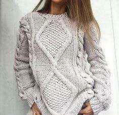 Knitting Patterns Jumper TOP IDEAS: the most beautiful knitted sweaters and sweaters -… Cardigan Outfits, Knit Cardigan, Knit Fashion, Sweater Fashion, Hijab Fashion, Jumpers For Women, Sweaters For Women, Knitting Patterns, Crochet Patterns