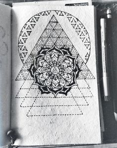Hand drawn mandalas and sacred geometries