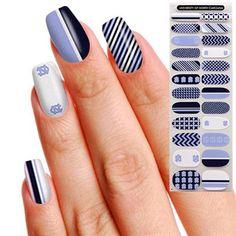 North Carolina Tar Heels (UNC) Womens 24-Pack Fingernail Appliques