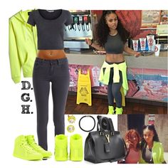 Neon & Grey., created by dopegenhope on Polyvore