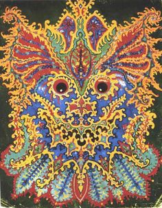 Wild imagery by Louis Wain. An extreme illustration of mental pain.