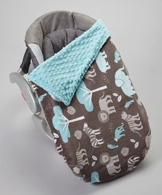 Look at this #zulilyfind! Topaz & Jungle Tales Minky Car Seat Blanket by Lolly Gags #zulilyfinds
