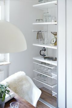 Howards is an elfa® shelving specialist. We have a solution for every room of your home. As a component based system, elfa is flexible enough to adapt and change. It's easy to install and has a 10 year guarantee. Kitchen Organisation, Home Organization, Elfa Shelving, Shelves, Pantry Storage, Kitchen Storage, Howard Storage, Shelving Solutions, Organizing Your Home