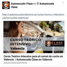#CURSO #TEORICO #INTENSIVO en #Valencia.   Semana del 18 de JULIO.  Reserva tu plaza antes que se complete el curso!!!  963276535