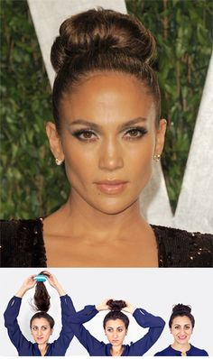 Perfect for summer. The #Jlo bun is a no-fail look. #hairstyles