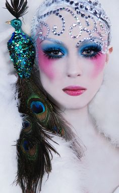crystal peacock look  #style #fantasy #beauty #makeup #cosmetics #editorial #photography