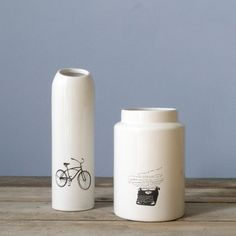Vase Black Bicycle and Black Typewriter - House Doctor DK - Accessorize your Home