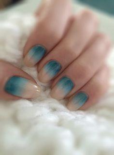 Beige & blue ombré