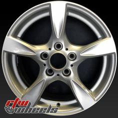"BMW 128i wheels for sale 2008-2013. 17"" Silver rims 71504 - http://www.rtwwheels.com/store/shop/17-bmw-128i-wheels-oem-silver-71504/"