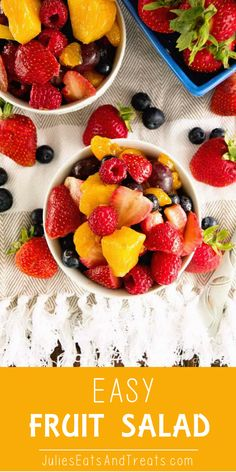 Easy Fruit Salad ~ Simple and Delicious Fresh Fruit Salad Recipe Using Vanilla P. - Light and Healthy Meals - Fruit Fruit Sald, Fresh Fruit Salad, Fruit Salad Recipes, Fruit Snacks, Fresh Strawberry Recipes, Vanilla Pudding Mix, Fruit Dishes, Recipe Using, Stress Free