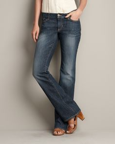 Truly Straight Boot Cut Jeans Boot Cut | Eddie Bauer