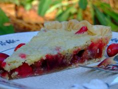 From Beyond My Kitchen Window: Cranberry Nut Pie