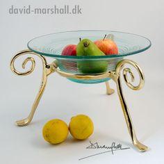 David Marshall Snail Bowl - frugtskål i messing og glas, Ø29 x 14,5 cm