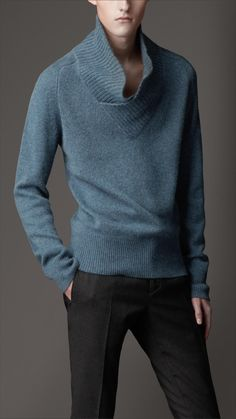 Burberry Cashmere Shawl Collar Sweater
