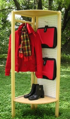 Be ready to go! Great for dorm, laundry room or mudroom. Patented. design-divide.com/9.html