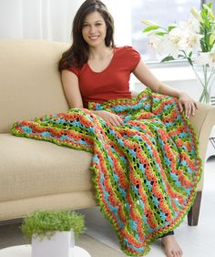 Flamenco Fling Afghan ~ free pattern