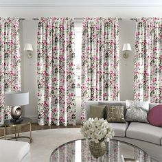 Paeonia Velvet Rose Curtains Rose Curtains, Made To Measure Curtains, Curtain Designs, Dark Wood, Velvet, Black And White, House, Autumn, Spring