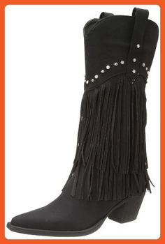 Roper Women's Fringe and Stud Western Boot,Black,9 M US - Boots for women (*Amazon Partner-Link)