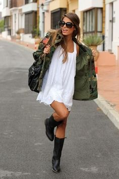 military green jacket... :) omg i love this!!!!!