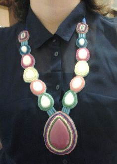 colorful statement necklace beadwork