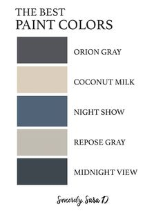 These are what I consider to be the best paint colors for your home! Painted Interior Doors, Best Interior Paint, Interior Paint Colors, Interior Plants, Interior Design, Office Color Schemes, Paint Color Schemes, Annie Sloan, Garage Paint Colors