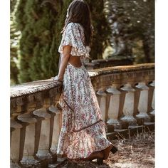 Mode Hippie, Hippie Look, Look Boho, Bohemian Style, Boho Chic, Unique Dresses, Casual Dresses For Women, Dress Casual, Beach Dresses