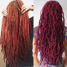 From red locs to fuschia locs..