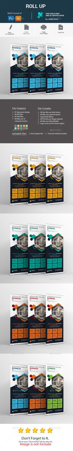 Buy Roll Up by Benjinpoint on GraphicRiver. Roll Up File Information This File open is programs cc, cc+), it's item minimum adobe Ai Illustrator, Corporate Business, Banner Template, Print Templates, Brochure Design, Signage, Fonts, Design Ideas, Card Templates Printable