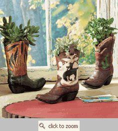 Boot Vase Set
