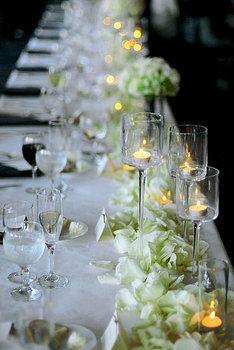 Reception, White, Wedding, Black, Formal, Tablescape, City