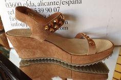 Pedro Garcia FEDE Crystal-Studded Suede Wedge Sandal 9.5 39.5 #PedroGarcia #PlatformsWedges #Casual