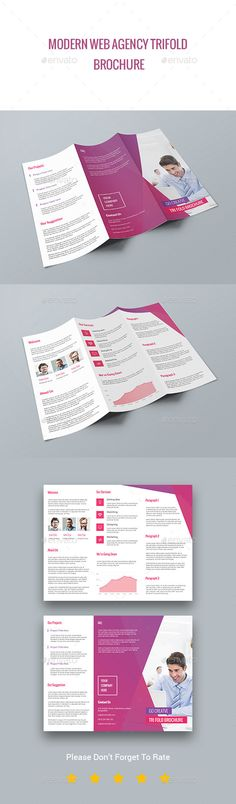 Modern Web Agency TriFold Brochure Template #brochure Download: http://graphicriver.net/item/modern-web-agency-trifold-brochure/11643850?ref=ksioks