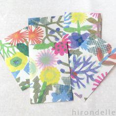 ひびのこづえPATTERN和紙ぽち袋・FLOWERS