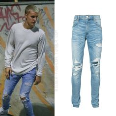 "bieber-fashion: "" Amiri Distressed regular-fit jeans - $890.00 Available here """