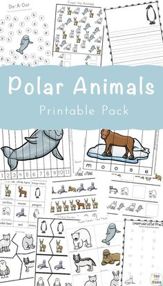 Free Printable Polar Animals Activities for Kids #animals #polarbear #polaranimals #freeprintables #