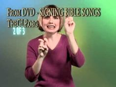 Signing Bible Songs Part 1 - Introduction for Babies or Children, Christian Sign Language Songs Sign Language Songs, Learn Sign Language, British Sign Language, Children Christian Songs, Asl Videos, Music Videos, Christian Signs, Christian Crafts, Childrens Bible Songs