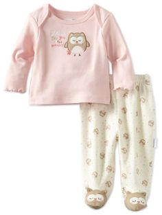 Amazon.com: Vitamins Baby Baby-girls Newborn Owl See You 2 Piece Footed Pajama Set: Clothing