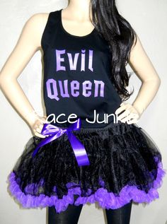 Evil Queen Set. Sewn Tutu Skirt with Tank or Tee on Etsy, $50.00