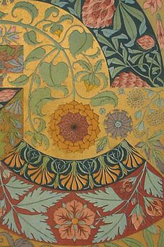 ~ Art Nouveau Designs with Plant Motifs Chromolithograph Prints, 1890 - Seder Botanical Print (detail)