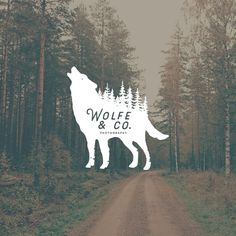 Masculine Logo Design. Vintage Logo. Wolf Logo. Manly by RogueLogo