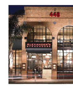 ALEXANDER'S STEAKHOUSE - SAN FRANCISCO, classic American steakhouse with hints of Japanese, a Michelin starred. Chef Jeffrey Stout.