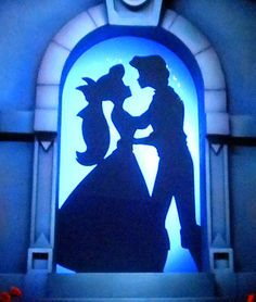 Ariel and Eric silhouette at the end of Little Mermaid ~ Ariel's Undersea Adventure.
