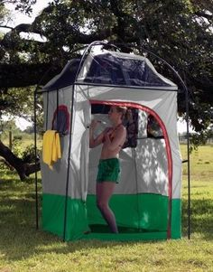 Privacy Changing Tent  Shower Combo Camping Gear Gravity Shower for Glamping  #summer #glamping #udderlysmooth