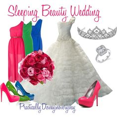 Sleeping Beauty Wedding, created by prettybritty3820 on Polyvore