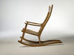 Sam Maloof rocking chair replica European Walnut