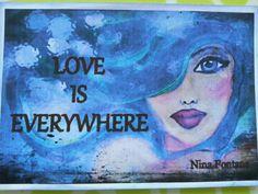 Original Love Art Note Card By:Nina Fontana by LoveByNina on Etsy
